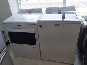 Maytag tap load washer and gas dryer set new with 6 months warranty for Sale in Mount Rainier, MD