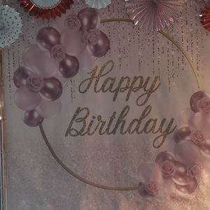 Rose Gold Birthday Backdrop for Sale in Wethersfield, CT