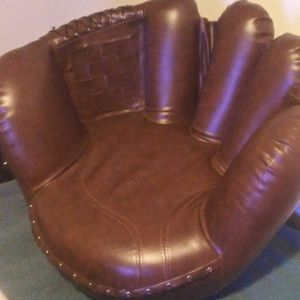 baseball glove chair and baseball ottoman for Sale in Austin, TX