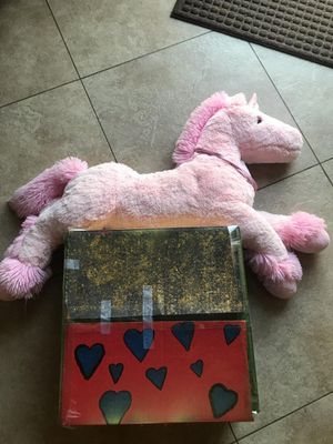 Mystery Box with unicorn teddy bear. for Sale in Colton, CA
