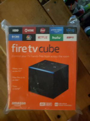 Fire TV Cube, hands-free with Alexa and 4K Ultra HD (includes all-new Alexa Voice Remote), streaming media player for Sale in Fort Worth, TX