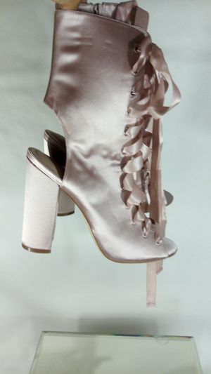 ALDO Boots size 10/ Rose Gold satin fabric/ New no box / botas de mujer numero 10 nuevas sin caja / $60 firm for Sale in Fullerton, CA