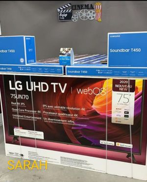 "Brand New 🧿🧿🧿55 to 86"" LG smart tv with free soundbar or ps4 only $39 down for Sale in Houston, TX"