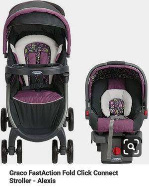 """""""Graco Snugride 30"""" Stroller and Matching purple carseat combo for Sale in Houston, TX"""
