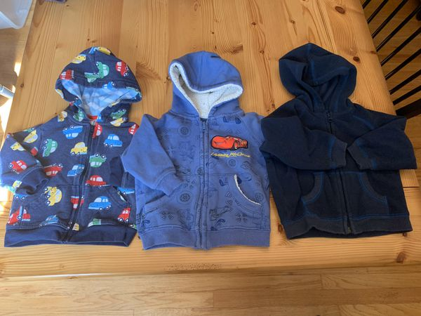 12 month zip up jackets, sweaters & outfits- 13 pieces