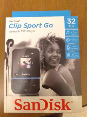 32 GB Sandisk Clip Sport Go MP3 Player, Never Used. for Sale in Fort Wayne, IN
