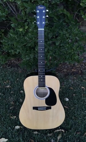 Squier by Fender Acoustic Guitar, NEW Strings, (Guitar Stand Included) Look 👀 Pictures for details, Excellent Condition! Selling it for $140.00 SERIO for Sale in Irwindale, CA
