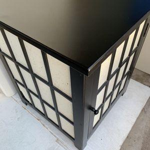 "Black Wood Table Door Opens Measures 25 1/2"" X 20"" X 20"" Scottsdale for Sale in Tempe, AZ"