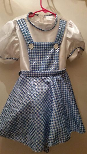 Dorothy costume size small 4/6 with attached slip, Two bows for hair and red shoes size 8. PRICE REDUCED AGAIN! for Sale in Largo, FL