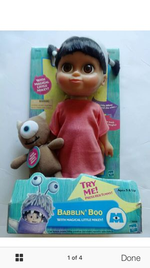 Used, Monster's Inc Babbling Boo Doll for Sale for sale  Jersey City, NJ