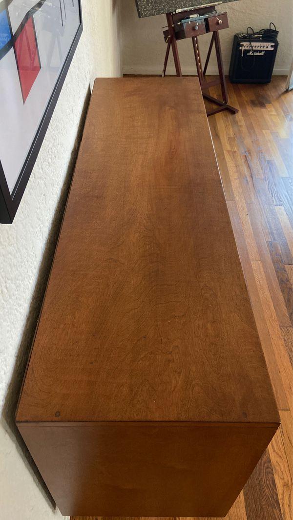 Vintage Mid-Century Modern Walnut Wood Credenza