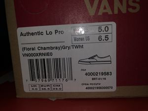 Womens Vans, Size 6.5 for Sale in Bunnlevel, NC