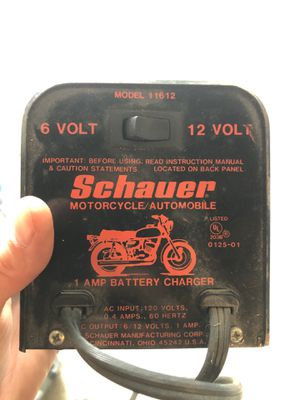 Schauer battery charger for bike Harley Davidson for Sale in Lorain, OH