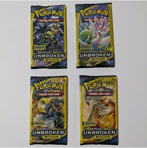 Pokemon Sun & Moon Unbroken Bonds 3 card Booster Packs All 4 Pack Styles for Sale in Flushing, NY