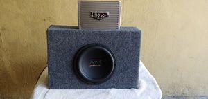 "Polk 10"" speaker and boss 1500 amp for Sale in Tampa, FL"
