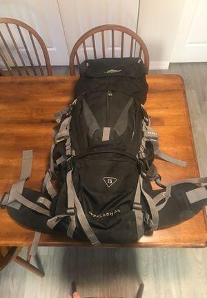 High Sierra Appalachian 75L pack pack & Lumberjack Latitude 40 f sleeping bag for Sale in Denver, CO