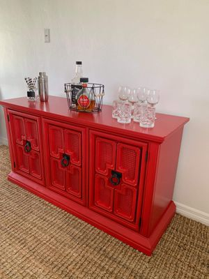 Buffet sideboard credenza bar accent piece China cabinet entryway console tv stand kitchen cabinet server for Sale in Fort Lauderdale, FL
