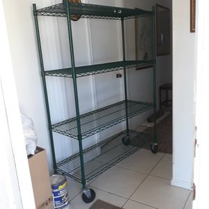 Commercial Epoxy Wire Shelving Unit with Wheels for Sale in Delray Beach, FL
