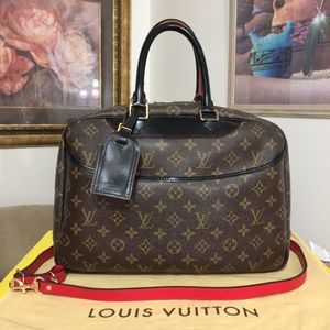 Louis Vuitton Monogram Deauville Handbag 👜 Black for Sale in Mesa, AZ