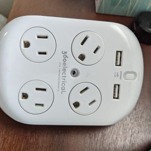 360 Electrical 36038 Revolve Surge Protector with 4 Rotating Outlets and 3.4 Amp/17W USB Charging, 6 for Sale in Verona, PA