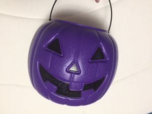 Purple Halloween Candy Pail for Sale in Eau Claire, WI