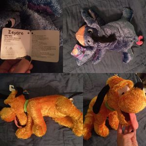 Disney Eeyore and Pluto stuffed animals NWT for Sale in Calumet City, IL