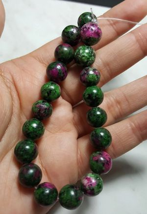 "Ruby Zoiste Plain Roundale Natural Gemstone Beads size - 10mm 7.5"" in long Strand #2 for Sale in Queens, NY"