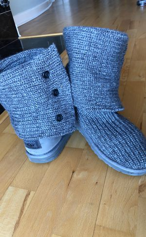 Knit grey Ugg boots for Sale in Chicago, IL