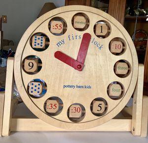 Kids Wooden Clock for Sale in Long Beach, CA