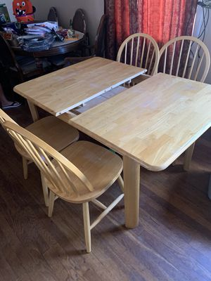 wooden table with chairs for Sale in Richmond, CA