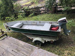 3 person boat runs good comes with trailer for Sale in Manassas, VA