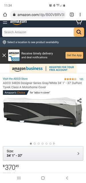 Rv cover for Sale in Temecula, CA
