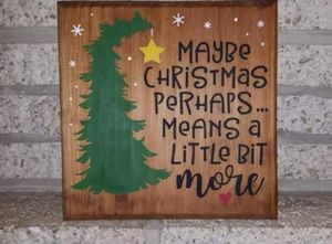 """Handmade wooden sign """"maybe christmas..."""" for Sale in Frederick, MD"""