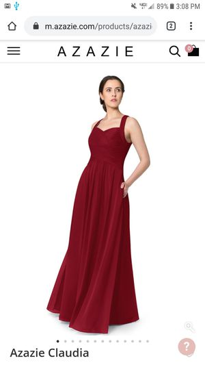 Formal Dress Red Size 6 Pockets Burgundy Bridesmaid Prom Homecoming Quinceanera for Sale in Riverside, IL