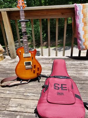 Prs SE Mark Tremonti with usa upgrades electric guitar with case for Sale in Stockbridge, GA