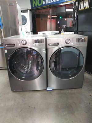 New LG Stainless Steel Washer and Dryer Set for Sale in Hawthorne, CA
