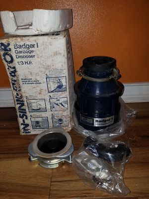 Badger in- sink- erator garbage disposal new 1/3 hp for Sale in Brandon, FL