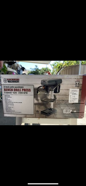 Brand New! 8 Inch with worklight Bench Drill Press for Sale in Ontario, CA