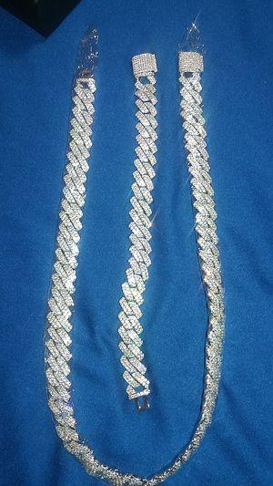 Cuban Link Chain & Bracelet matching set for Sale in Las Vegas, NV