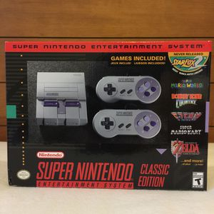 Super Nintendo, mini-sized Super NES Classic Edition for Sale in Houston, TX