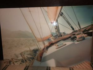 sail boat glass frame for Sale in Clayton, NC