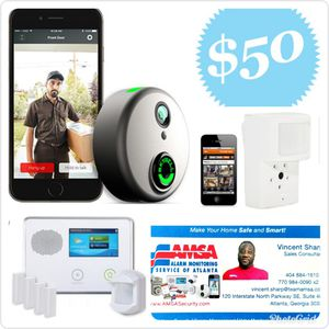 TOUCHSCREEN ALARM SYSTEM WITH SKYBELL HD DOORBELL CAMERA Equipment and Installation only $50 for Sale in Decatur, GA