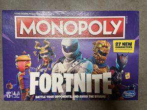 Fortnite monopoly board game for Sale in Oklahoma City, OK