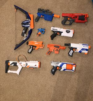 Lot of 10 Nerf Guns for Sale in North Andover, MA