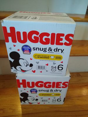 Huggies Size 6 diapers two boxes for Sale in Union Beach, NJ