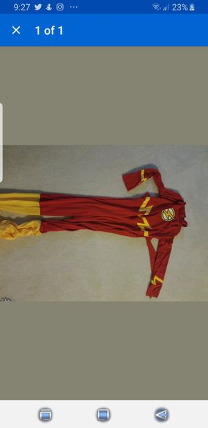 The Flash Kids Large Halloween costume Jumpsuit for Sale in Suwanee, GA
