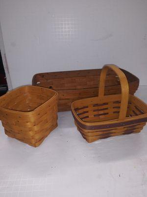 Longaberger basket lot of 3 for Sale in Bethlehem, PA