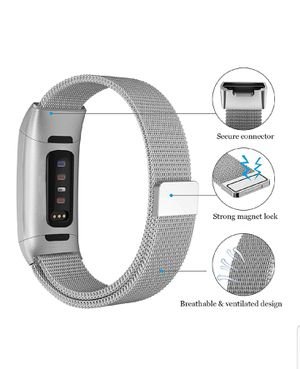 BRANDNEW REPLACEMENT BAND STAINLESS MILANES LOOP FOR FITBIT CHARGE3 for Sale in Little Rock, AR