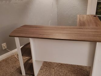 L-Shaped Desk with Bookshelves for Sale in Orange,  CA