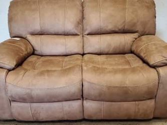 Brown Suede Recliner Loveseat Couch for Sale in Aurora,  CO
